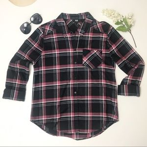 Paige Soft Flannel Plaid Button Up Long Sleeve